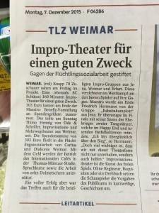 Bild Zeitungsartikel TLZ
